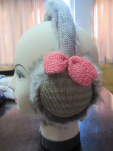 Fashion Winter Earmuff with Fake Hair for Women or Children (LX12-002)