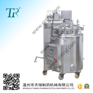 Pharmaceutical Hydraulic Mixing Tank (Hydraulic Lift/Lower Cover)