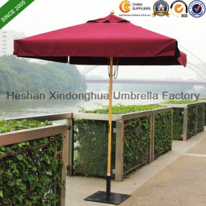 2m Square Wooden Teak Garden Umbrella for Outdoor Furniture (WU-S42020) pictures & photos