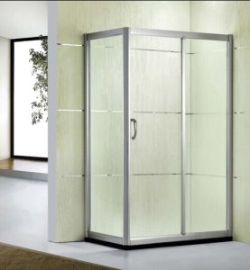 Factory Wholesale Price Tempered Glass Simple Glass Shower Room (D13) pictures & photos