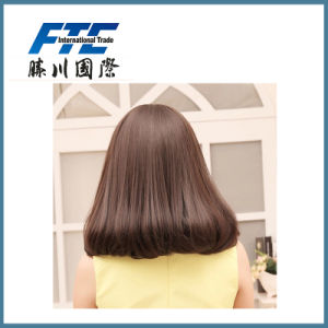 Soft and Smooth 22 Inches 120 Gram Human Hair Half Wig pictures & photos