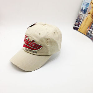 New Custom Spring Style Brim Shape Unconstructed Curve Hat with Applique Embroidery pictures & photos
