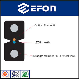 Lszh Sheath FTTH Indoor 2 Core Fiber Optic Drop Cable (GJXH) pictures & photos