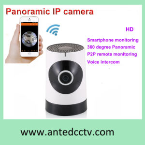 720p 1.0MP WiFi IP Home Camera Internet Monitoring with Fisheye Panoramic Lens pictures & photos