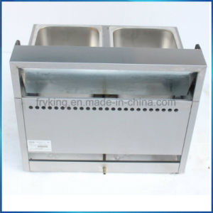 Double Tank Stainless Steel Gas Fryer for Kitchen pictures & photos