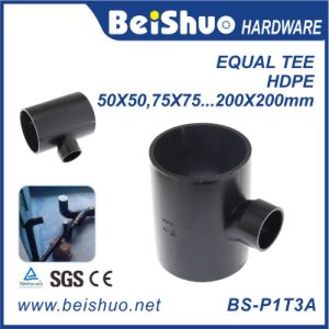 HDPE Water Pipe Three Way Equal Tee Adapter Connector Fittings pictures & photos