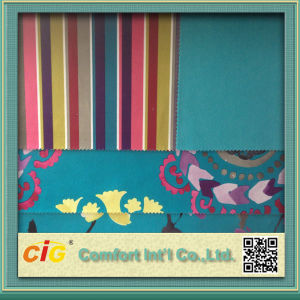 Fashion Flower Strip Plain Printing Fabric for Sofa pictures & photos