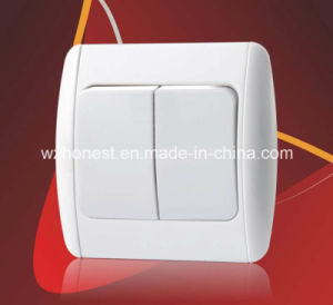 Electrical Switches for European Turkey Wall Switch Two Gang One Way Two Way Light Switch pictures & photos