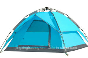 Outdoor 3-4 Persons Double-Skin Waterproof Automatic Camp Tent (JX-CT031-1) pictures & photos