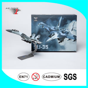 Plane Model Alloy Diecast Su35 Fighter with 1: 72 Scale