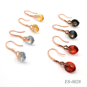 925 Silver / Stainless Steel Earring Crystal Fashion Jewelry