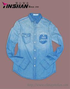 Men′s L/S Printed Cowboy Shirt (MX12-L4004)