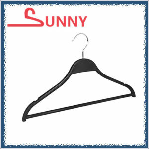 Plastic Hanger for Suit with Bar