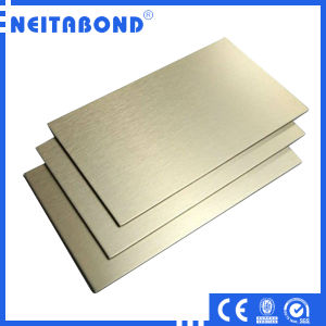 Golden Brushed Finish Aluminum Plastic Composite Panel for Interior and Exterior Usage with SGS Approved pictures & photos