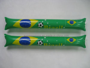 Eco-Friendly PE Inflatable Cheering Thunder Sticks for Sport Event pictures & photos