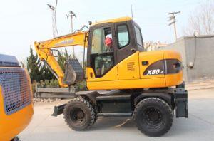 Yanmar Tier III Engine Wheel Excavator X80-L, 8ton, 0.3cbm pictures & photos