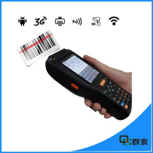 Android Touch Screen Handheld PDA Barcode Scanner Industrial with Printer pictures & photos