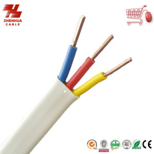 3core 1.5mm Pure Copper PVC Insulated Electric Flat Cable Manufacturer pictures & photos