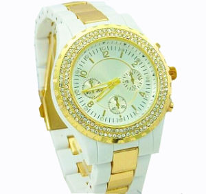 Fashion Ladies Quartz Chronograph Wrist Band Watch (XM9007)