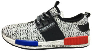 Athletic Men Sports Shoes Woven Flyknit Footwear (816-1913) pictures & photos