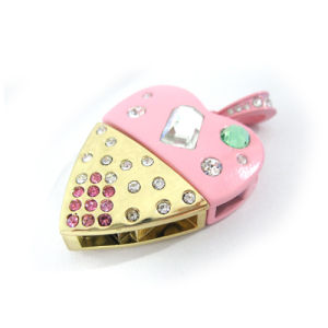 Jewelry Heart Shape Memory Stick Pen Drive USB Flash Drive pictures & photos