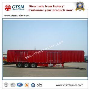 14.6 Meters 3-Axle Gooseneck Box/Van Type Semi Trailer pictures & photos