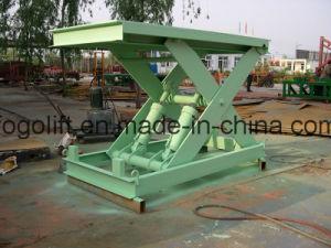 10t 3m Heavy Duty Freight Scissor Lift pictures & photos