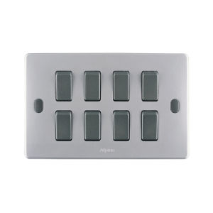 H Series 8 Gang Wall Switch (Bakelite)