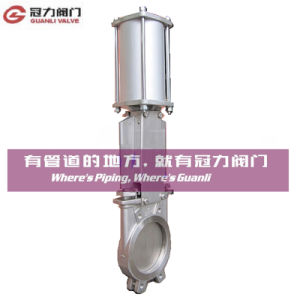 Stainless Steel Knife Gate Valve for Water Treatment Industry pictures & photos