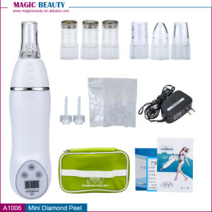 Home Use Mini Diamond Dermabrasion Electric Facial Vacuum Suction Blackhead Pore Cleaner pictures & photos