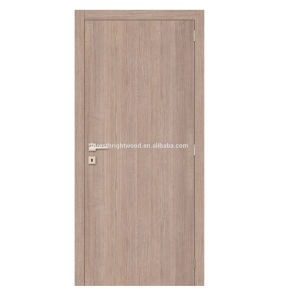 Light Color Home Design Simple Style Melamine Board Wooden Door pictures & photos