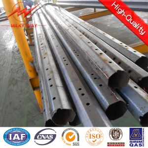 69kv Double Circuit Transmission Steel Pole pictures & photos