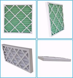 Metal Frame/Pleated Non-Woven Synthetic Media Primary Filter Panel Air Filters pictures & photos