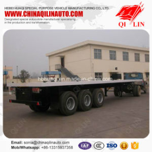 Good Quality Flatbed Semi Trailer with CCC ISO Certificate pictures & photos