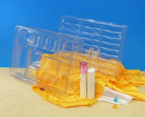 OEM disposible clear plastic packaging tray cosmetic blister (PVC blister) pictures & photos