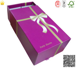 Paper Shoe Box/Paper Shoe Box with Drawer (mx-105) pictures & photos