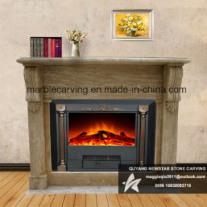 Simple Marble Arched Fireplace Mantel Nsb050 pictures & photos