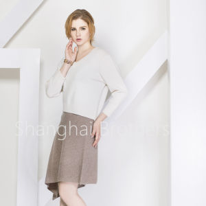 Lady Fashion Cashmere Dress Sweater pictures & photos