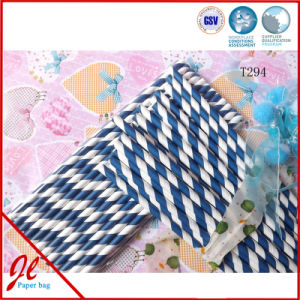 Blue Party Paper Drinking Straws Paper Straws Plastic Straws pictures & photos