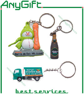3D Soft PVC Keyring with Customized Shape and Logo 16 pictures & photos