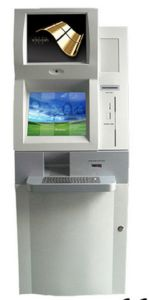 19inch Free Standing Dual Screen Card Reader Payment Kiosk pictures & photos