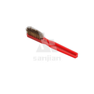 The Newest Japan Style Brass Wire Brush with Plastic Handle, Brush Steel Wire Brush Cleaning Brush (SJIE3105) pictures & photos