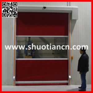 Fast Moving Plastic Fabric Automatic Rolling Door (ST-001) pictures & photos