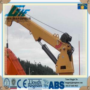 Hydraulic Shock Pedestal Telescopic Boom Jib Crane (GHE850) pictures & photos