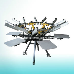 Micro Registration 6 Color Carousel Textile Screen Printing Machine pictures & photos