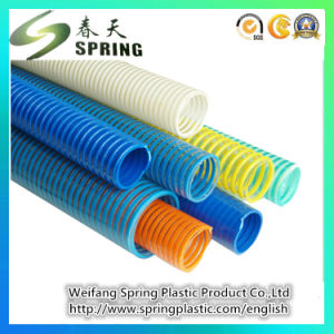 "3/4""-8""PVC Plastic Reinforced Spiral Suction Powder Water Garden Products Pipe Tube Hose pictures & photos"