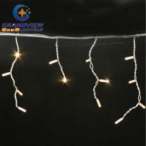 144 LED Warm White Color 16 Drops Icicle Curtain (L3mxH20/40/60cm) pictures & photos