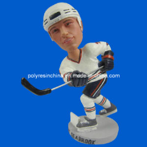 Custom Resin Bobble Head for Ice Hockey Player Doll pictures & photos