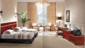 Hotel Double Room Modern Wood Hearboard Bedroom Furniture (GLB-200) pictures & photos