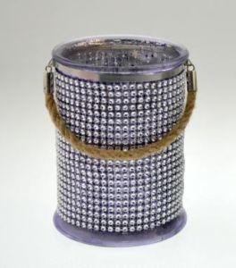 Mercury Glass Candle Jar with Diamond and Hemp Rope Hug pictures & photos